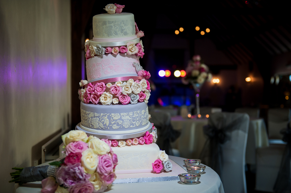 wonky wedding cake photography