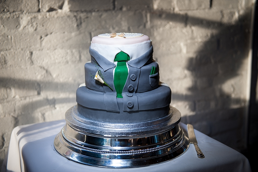 shirt and tie wedding cake