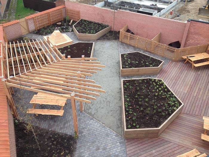 Odense garden yard for marginalized users of Kirkens Korshær
