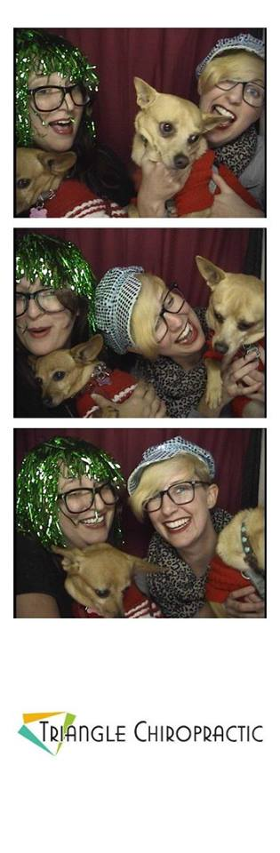 holiday party photo booth pics