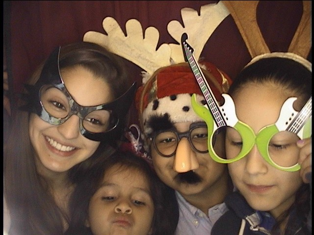 holiday party photo booth pic
