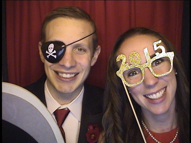 Photo booth rental news year party 2015