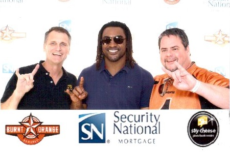Todd, owner (left); Cedric Benson, former UT All-American player (middle)