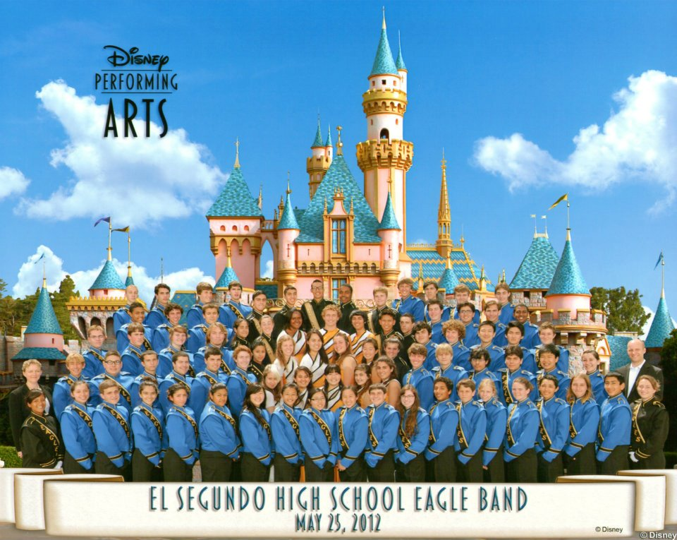 El Segundo High School Eagle Band at Disneyland - Accepted to march in the Disneyland Main Street Parade