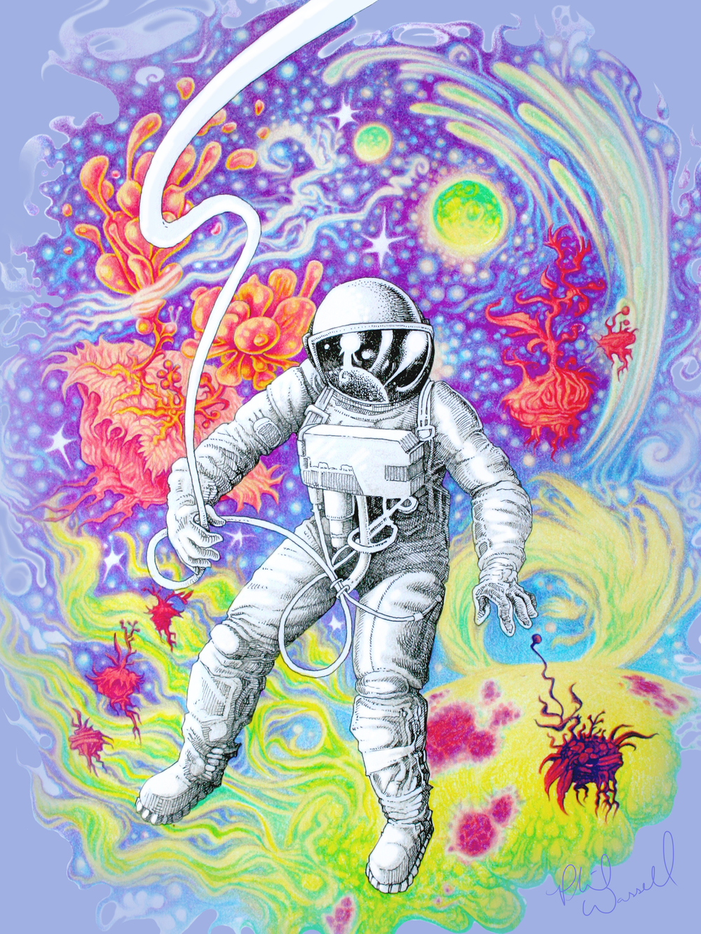 Phil Wassell_Spaceman_Pen_Ink_Colored Pencil_$375.jpg