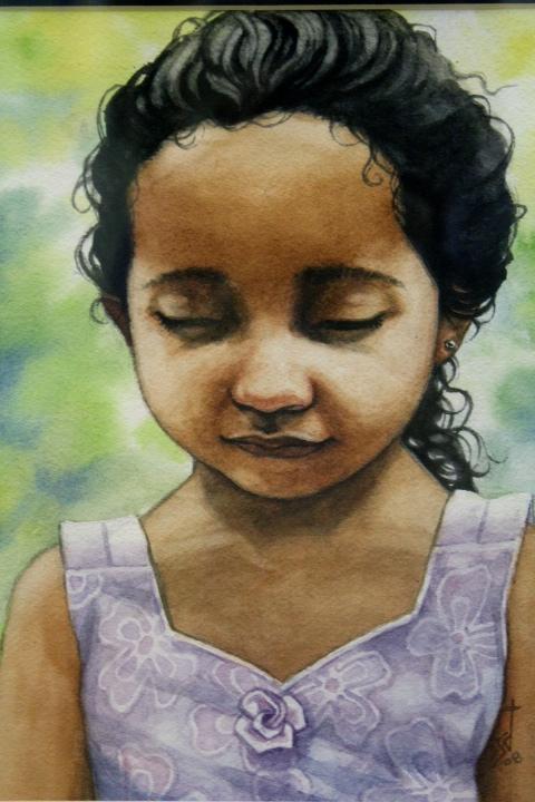 Seth Weber, Girl of Salvador, pastel, $150.jpg