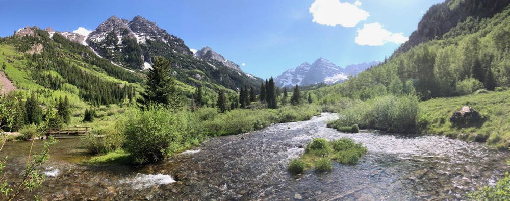 Fellow resident Ren Klein and I took a day trip to Aspen and Maroon Bells.