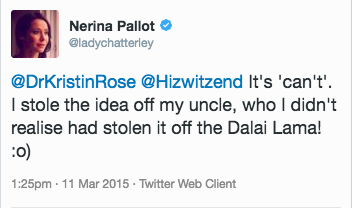 Nerina Pallot Answers Kristin's Question - Dalai Lama Post - Action Card Blog