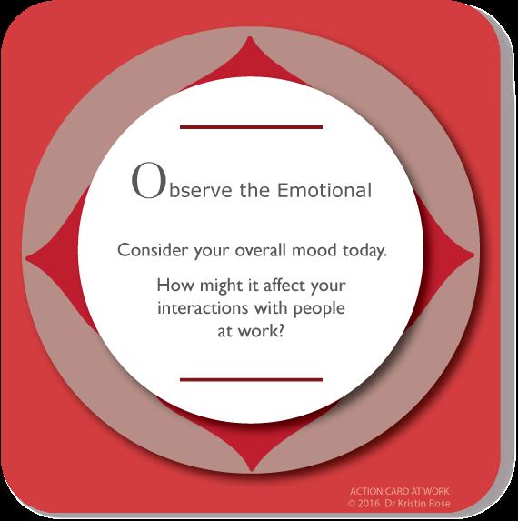 Observe the Emotional - Action Card at Work - Dr. Kristin Rose