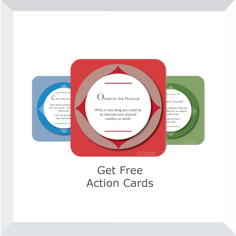 Action Cards at Work - Free Email Subscription - Dr. Kristin Rose