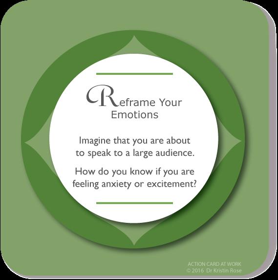 Reframe Your Emotions - Action Card at Work - Dr. Kristin Rose
