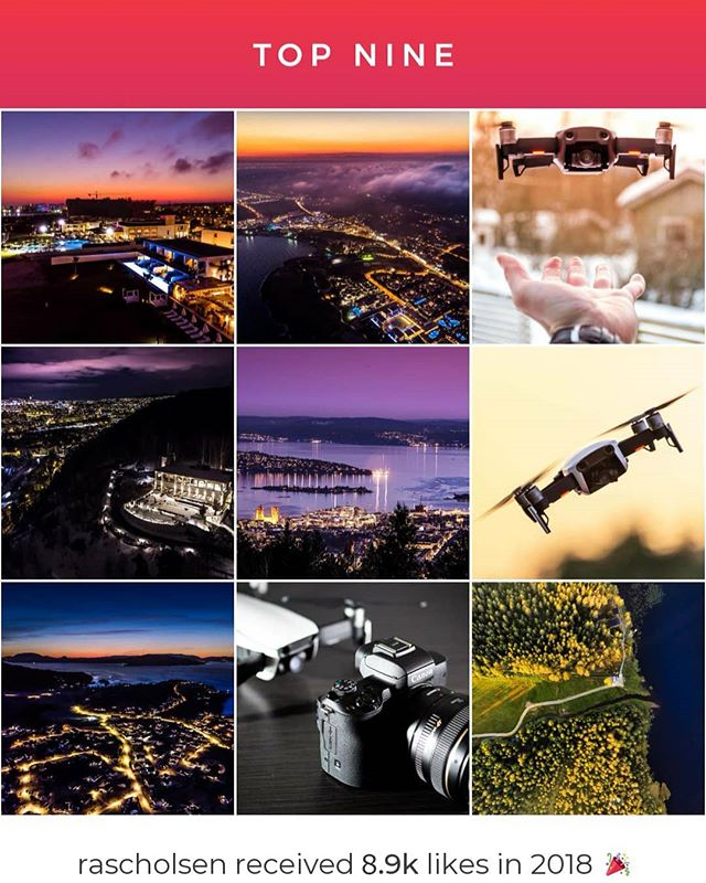 My #2018bestnine 🤘 Thank you 🙂  #dji #mavicair #drone #dronephotography #canon #canonphotography #aerialphotography #dronestagram #dronepics #dronephoto #aerialphoto #instaplace #landscape #colors #skypixel #djiglobal #djimavic #sunset #weather #mavic #photography #norway #visitnorway #oslo #longexposure #eos