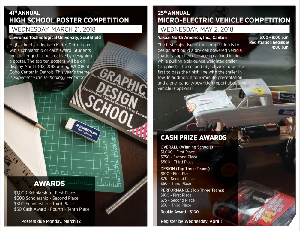 High School Competitions Mailer