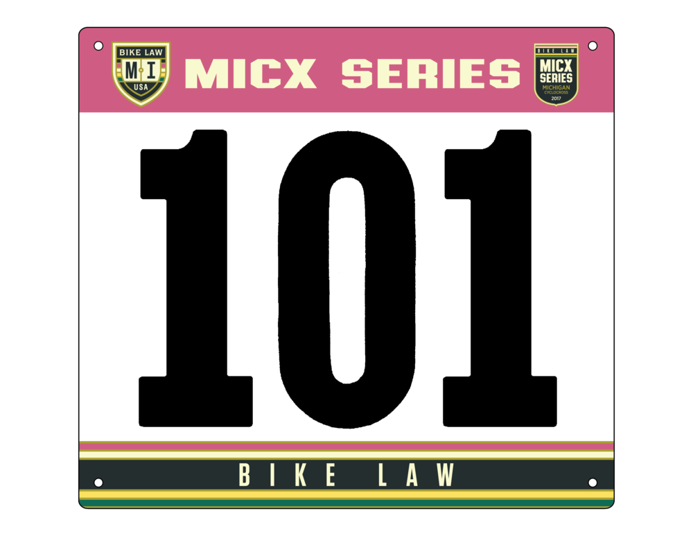 Bike Law Cyclocross Series Bib Number Design
