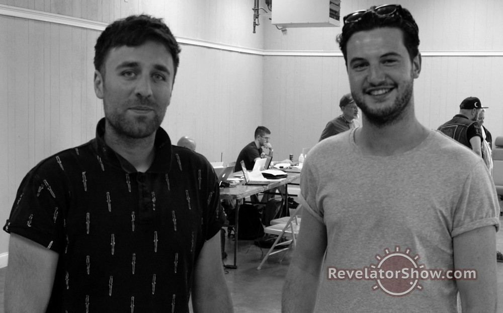 Simon and Sean post interview. To see more Revelator photos please visithttp://www.revelatorshow.com/revelatorphotos