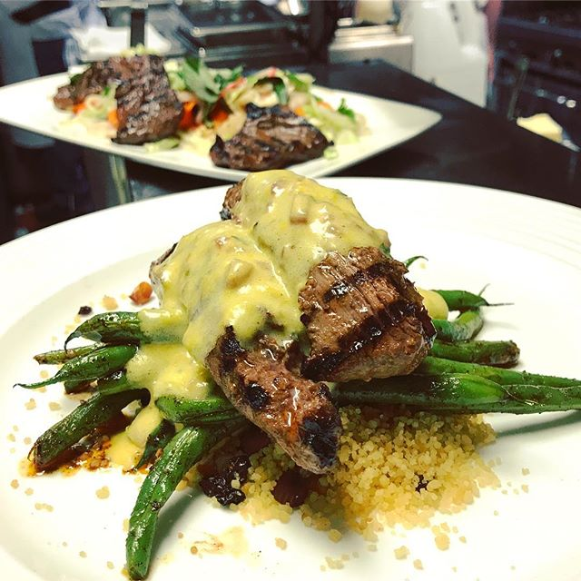 Marinated Lamb tenderloins with couscous, almonds, currants, green beans and a tarragon béarnaise is one of our classic recipes that never goes out of style 🎩 - - - - - #garibaldissf #nowrongwaysf #richmonddistrict #marinasf #pacificheights #colevalley #citybythebay #innerrichmond #sfeats #howsfseessf #bestofsf #sanfrancisco #mysf #sfchefs #sflocal #eatdrinksf #béarnaise #mysanfrancisco #bayareafoodie #sfguide #ilovesf #pacheights  #sanfranciscofood  #onlyinsanfrancisco  #sfstyle #sflife #sfdining #bestofsf #eeeeeats #sacramentostreet #igerssf