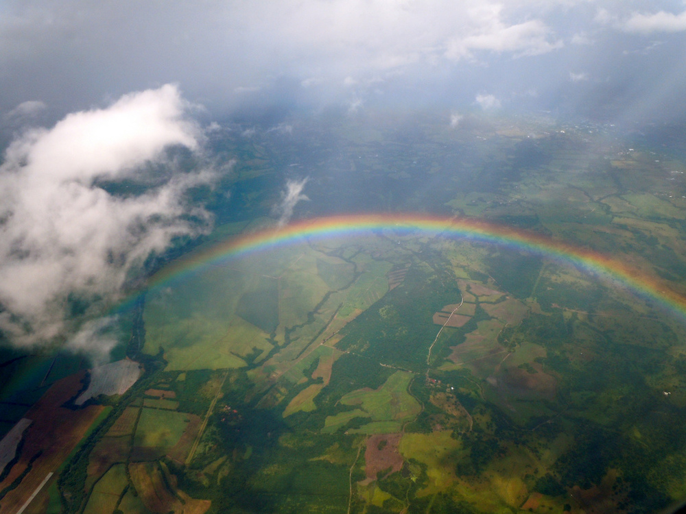 Rainbow over Costa Rica photo by Sarah Ackerman