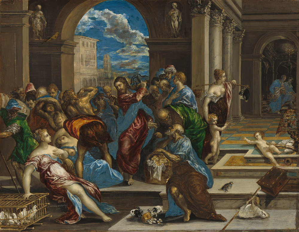 El Greco (Domenikos Theotokopoulos) Christ Cleansing the Temple Samuel H. Kress Collection