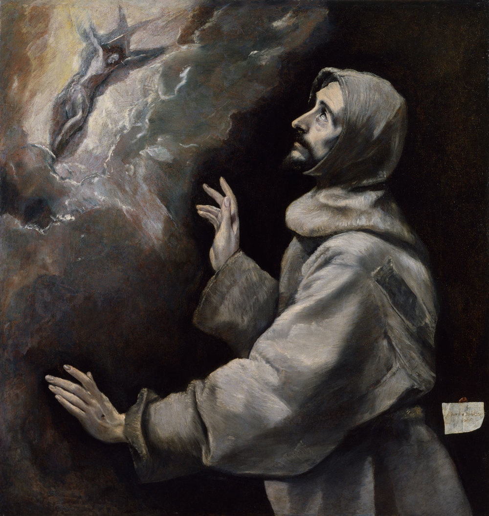 El Greco (Domenikos Theotokopoulos) Saint Francis Receiving the Stigmata, 1585-1590 The Walters Art Museum, Baltimore, Maryland, 37.424