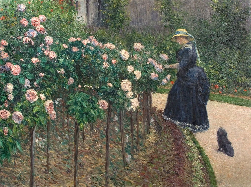 Gustave Caillebotte  Roses, Garden at Petit Gennevilliers , 1886  oil on canvas overall: 89 116 cm (35 1/16 45 11/16 in.) Private Collection © Comité Caillebotte, Paris