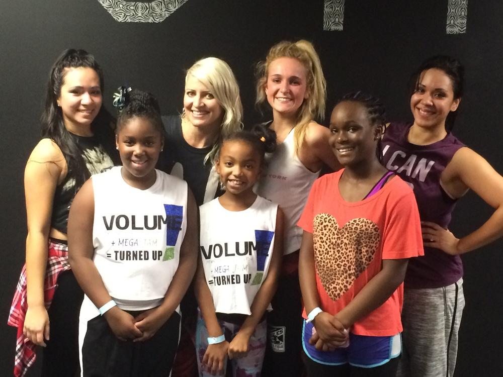 Jasmine Meakin and Volume Dancers