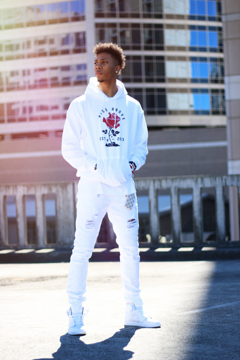 Defy The Odds Lifestyle Brand White Hoodie