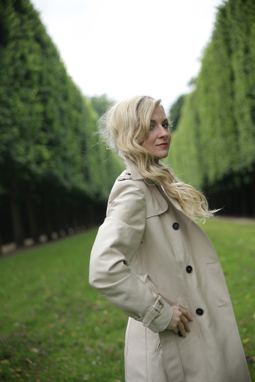 in the gardens of Versailles