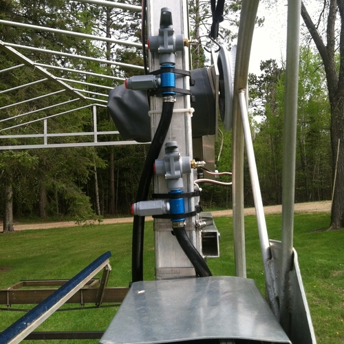 Mounted to a Lift - Cable ties are provided to mount the valve assembly to the boat lift.