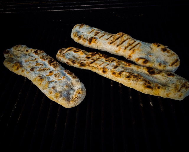 Summer flatbread on grill