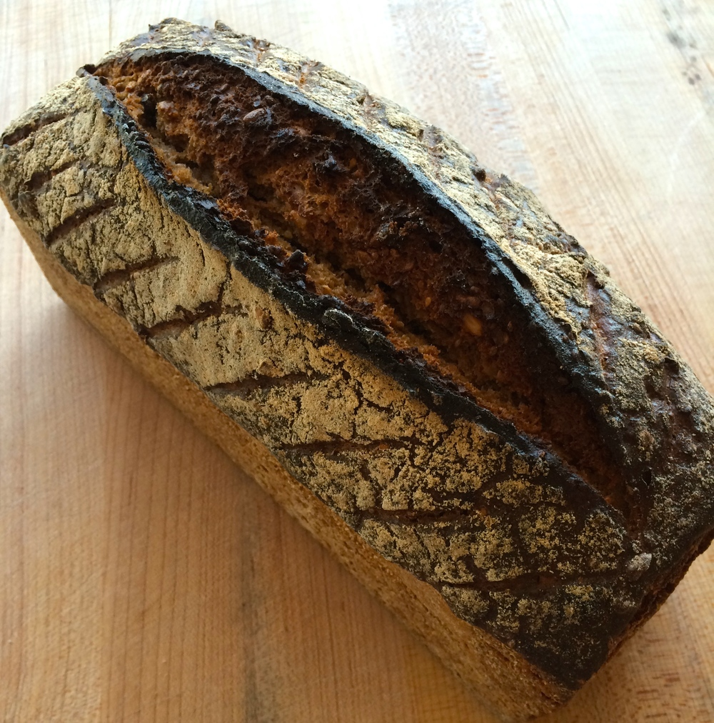 Whole einkorn bread by Mike Zakowski, the Bejkr, in Sonoma, California