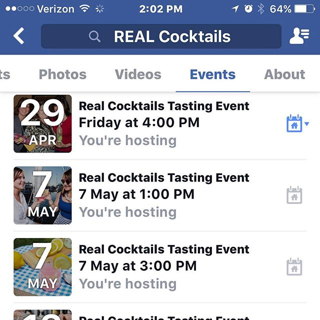 So many great tastings coming up!  Visit us on Facebook or at www.realcocktails.com for more information!