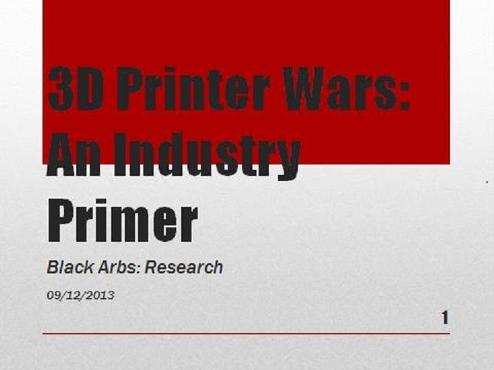 3d Printer Wars