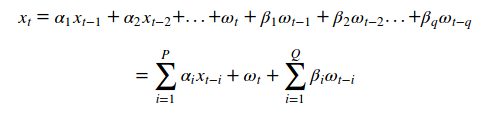 arma(p, q) equation