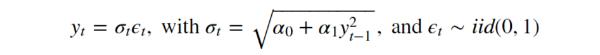 ARCH(1) model if zero mean