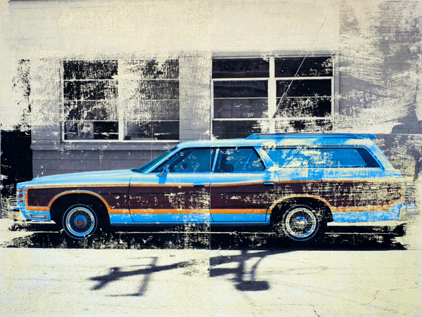 Country Squire, Original photo and acrylic paint on canvas, 18 x 24 in.
