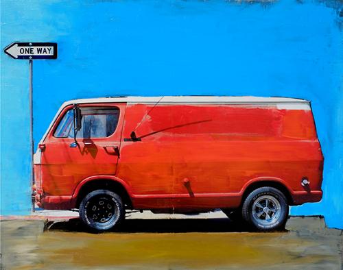 Orange Van 20 x 24 in.