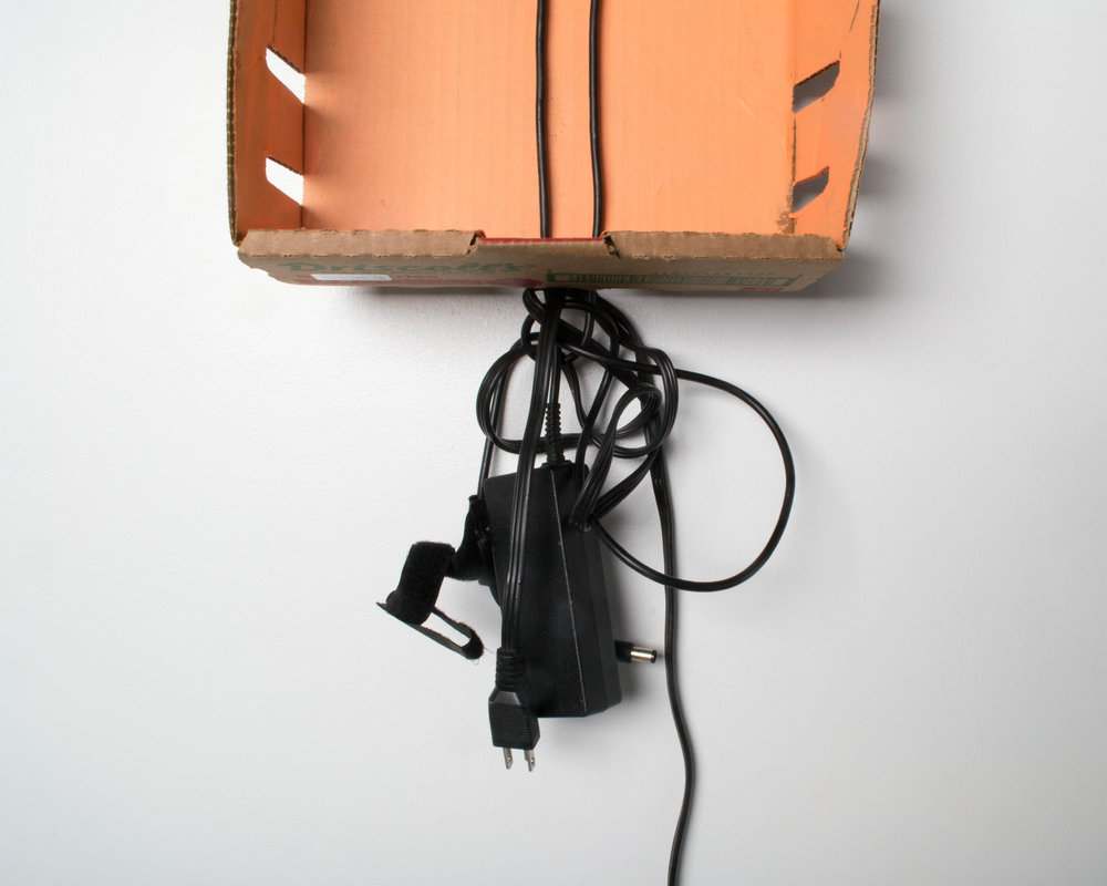 tangled power cord (orange)
