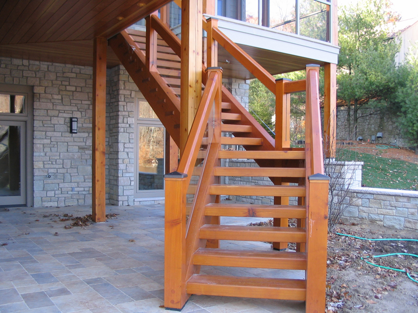 Лестницы для дома своими руками уличные 12