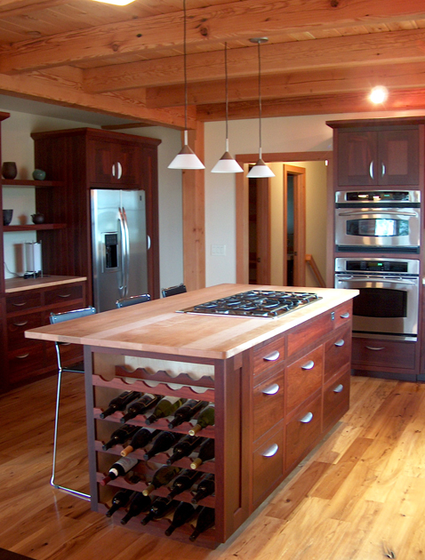 "As we like to say ""keep wood under the elbows"" when crafting a kitchen."
