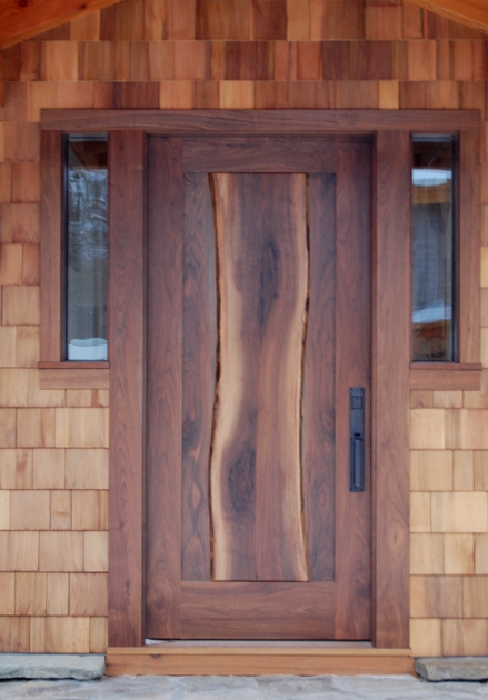 The Live Edge Of The Center Stave Of This Walnut Door