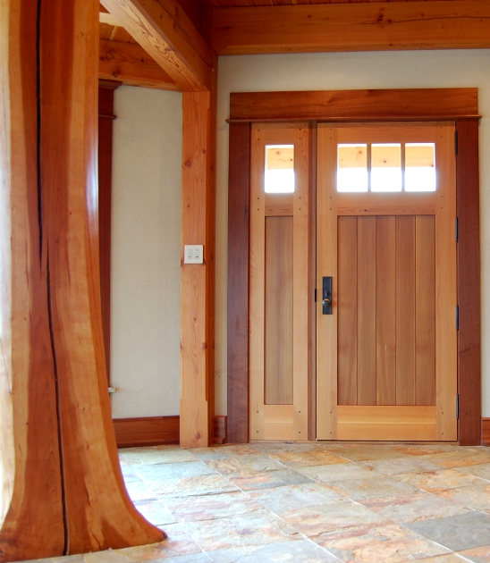 "Crafted of Western Red Cedar, this entry door is 3"" thick and uses stave cores to create a very high efficient and highly insulated door. D11"