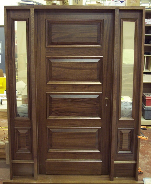 Raised panel entry door. D46