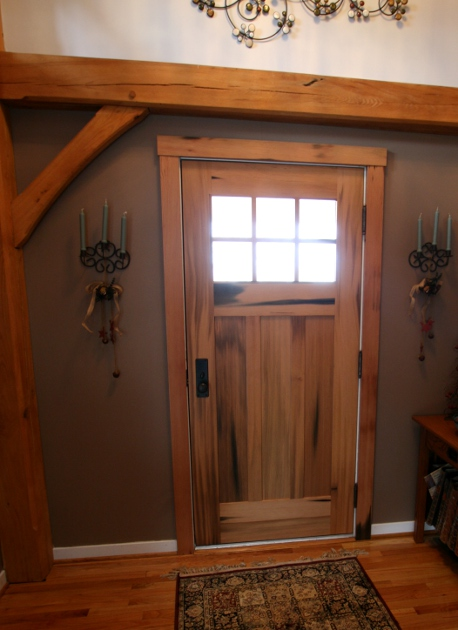 Pickle_vat_df_entry_door_interior_view. Barn Doors Overlooking Lake