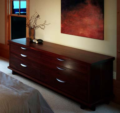 Reclaimed from wool mills in Australia, the Jarrah used to craft this dresser offers density and color unmatched by our local hardwoods.