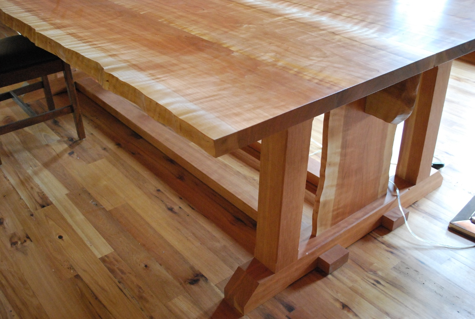 Cherry was crafted into a large drafting table for the private home of an architect.