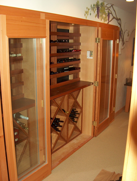 A built-in wine storage cabinet. W9