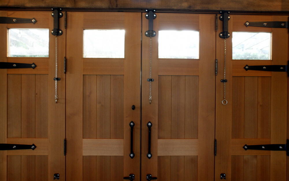Cedar folding doors