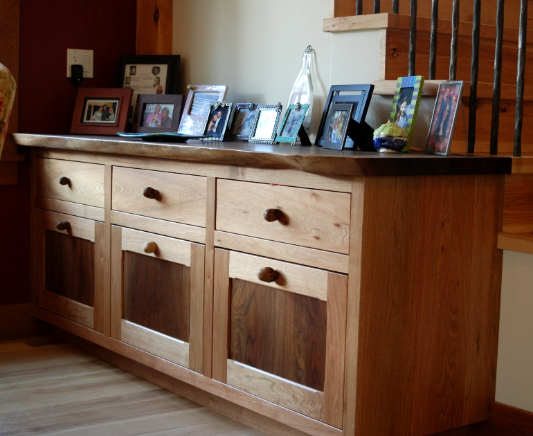 Dinning buffet with live edge top