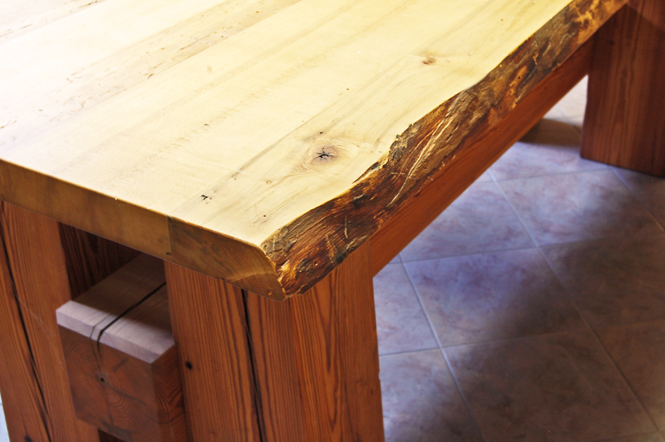 Antique Timber & Hardwoods Table - located in our East Coast show room.