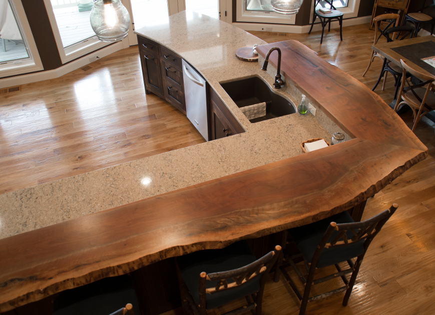 Live edge newwoodworks for Natural edge wood countertops